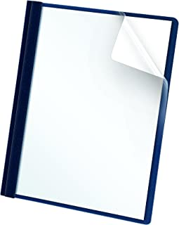 Oxford Clear Front Report Covers, Dark Blue, Letter Size, 25 per Box (55838EE)