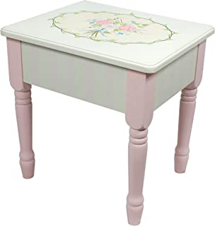 Fantasy Fields - Bouquet Thematic Kids Vanity Stool   Imagination Inspiring Hand Crafted & Hand Painted Details   Non-Toxic, Lead Free Water-based Paint