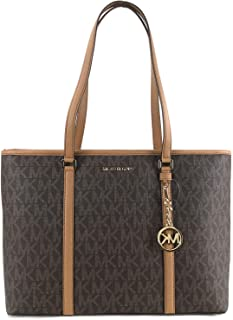 Michael Kors Womens Sady Multifunction Top Zip Tote Bag Brown L
