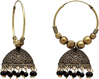 311b06f26 Jaipur Mart Gold Plated Alloy Oxidized Earrings For Women And Girls (1  Pair) (