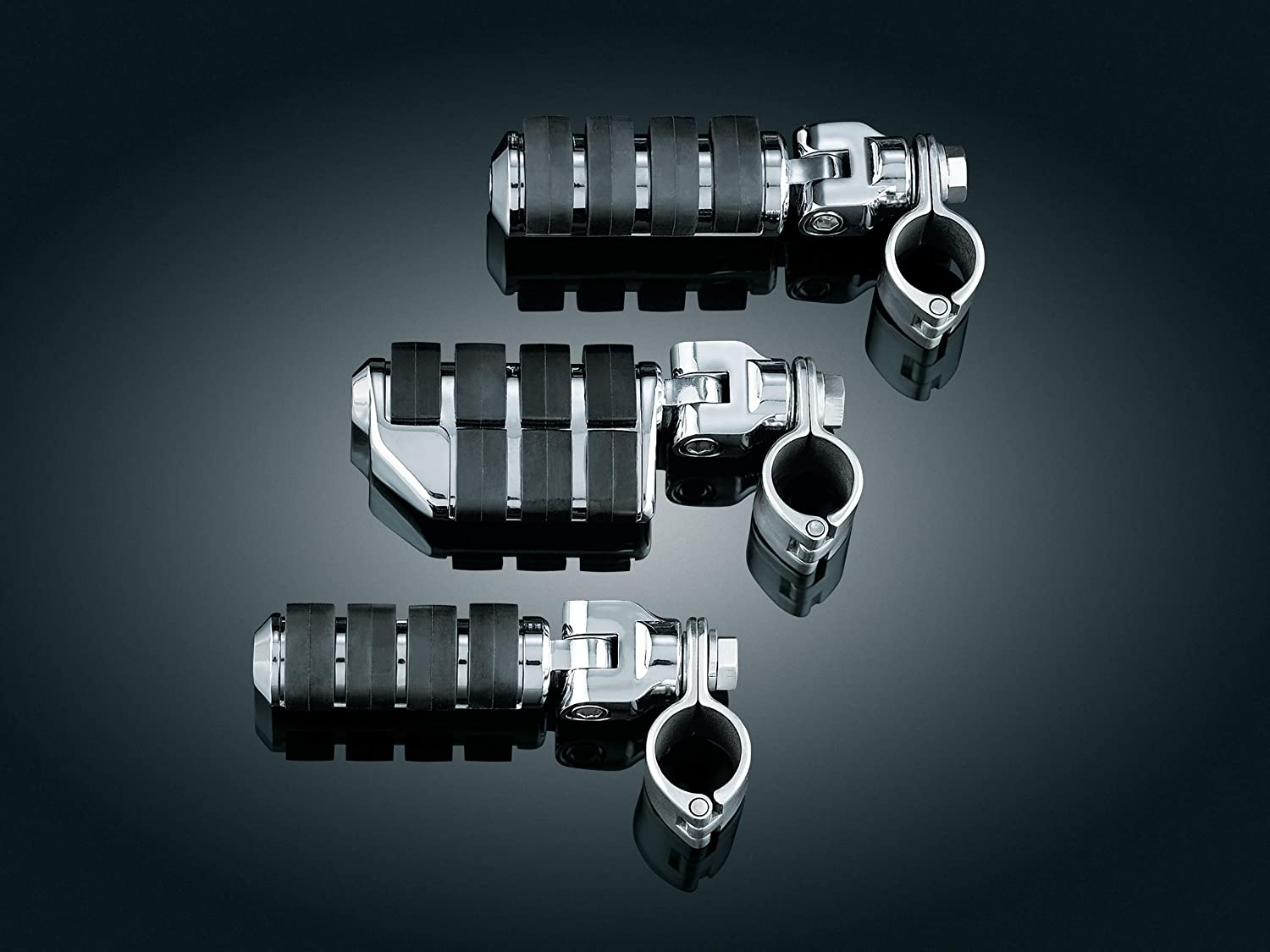 Kuryakyn 8033 Motorcycle Foot Control Component Chrome 1 Pair Large ISO Pegs with Mounts and Magnum Quick Clamps for 1-1//4 Engine Guards or Tubing