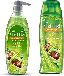 Fiama Lemongrass And Jojoba Clear Springs Shower Gel, 500ml & Fiama Shower Gel - Lemongrass & Jojoba, Gentle Exfoliation, ...