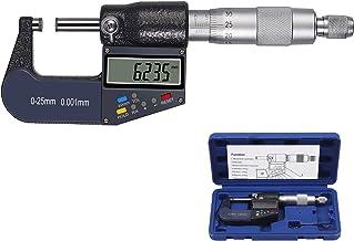 Proster 0-25mm Multifunction Digital Micrometer 0.001mm Electronic Micrometer Caliper