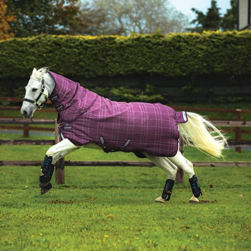 Horseware, Rhino Plus Turnout Medium Vari-Layer, Berry gris Carreaux Blancs et Framboise,
