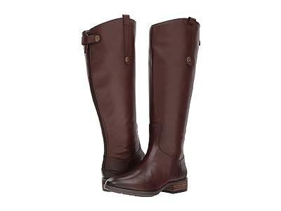 Sam Edelman Penny 2 Wide Calf Leather Riding Boot (Dark Brown Basto Crust Leather) Women