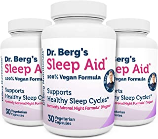 Dr. Berg Sleep Aid Vegan Formula – All Natural Support for Normal Sleeping Cycles to Fight Fatigue & Aids S...