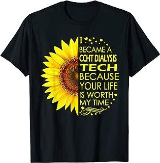 I Became Ccht Dialysis Tech Sunflower T-Shirt