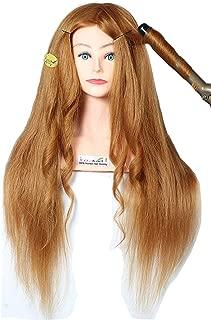 RITZKART Original Human hair dummy For Hair Styling Practice Practice/Training Hair Dummy, Spl For curling, training Dye/Tong/Braiding (85% human hair Dummy 33inch 320 gm)