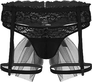 ACSUSS Black Mens Bridal Wedding Bikini Lingerie Set G-String Thong Underwear