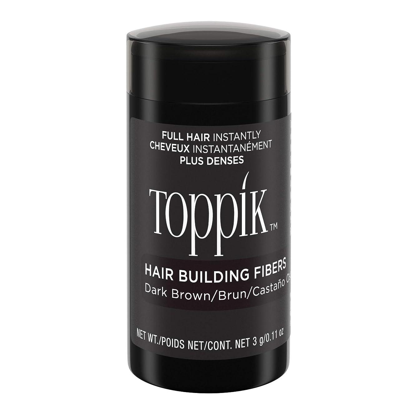 回る家事をするセラーToppik Hair Building Fibers - Dark Brown 0.09 oz. small travel size by Spencer Forrest
