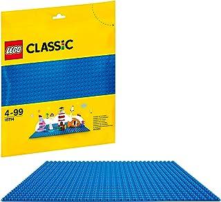 LEGO 10714 Classic Blauwe Basisplaat 25,4 x 25,4 Cm / 2 x 32 Noppen Stapelbaar, Bouwplaat voor Uitgebreide Bouwsets