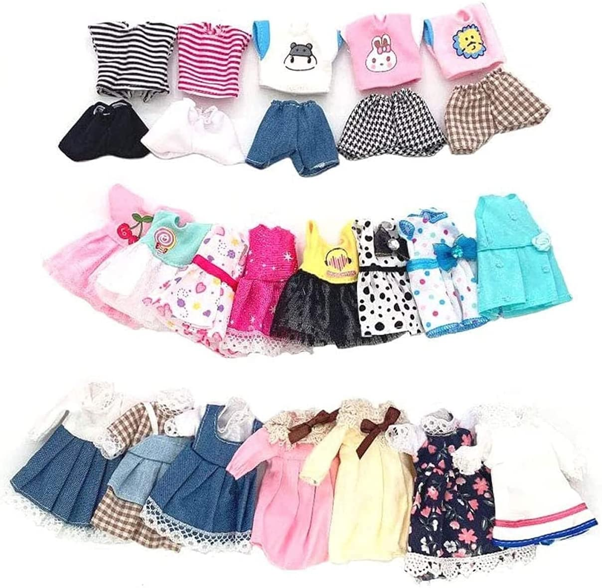 Lembani 20 Pcs lowest Credence price Set Adorable Doll Out Dress Party Casual Handmade