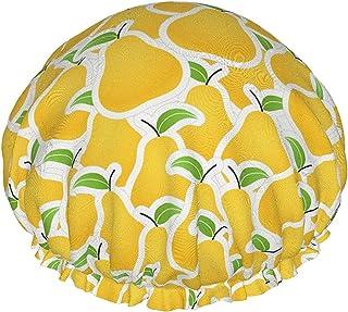 Pomarańczowa gruszka wodoodporna czapka prysznicowa z elastycznym obszyciem dwustronna konstrukcja do prysznica czapka do ...