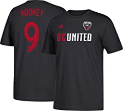 adidas Wayne Rooney D.C. United Men's Black Name and Number T-Shirt