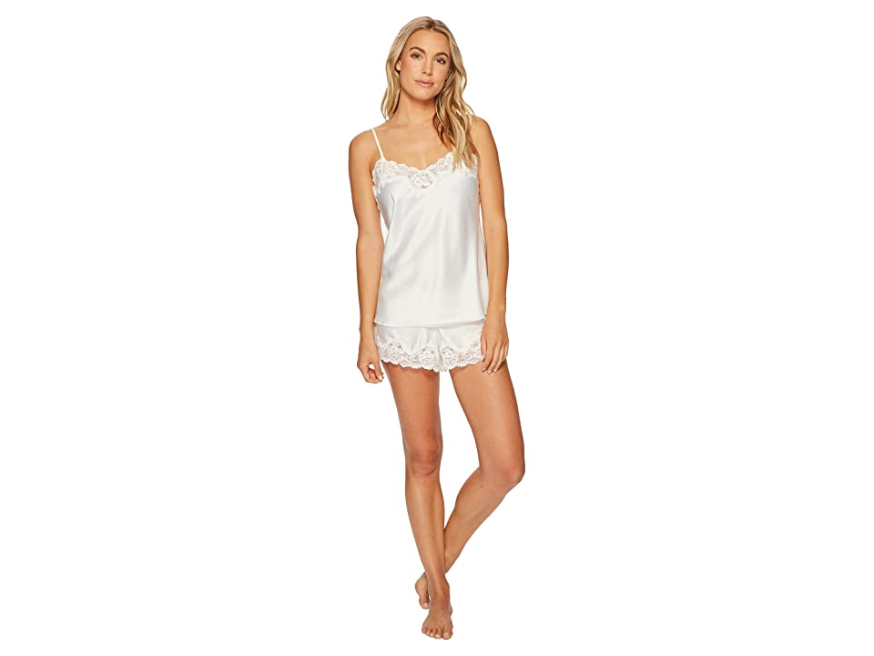 LAUREN Ralph Lauren Satin Cami Top Pajama Set (Ivory) Women