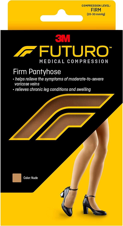 FUTURO Firm Pantyhose, Large, Nude (20-30 mmHg)