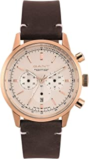Gant Bradford Men Chronograph Watch With White Dial And Brown Leather Strap - GT064003