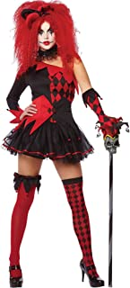 Amscan Jesterina Harlequin Harley Quinn Adult Costume