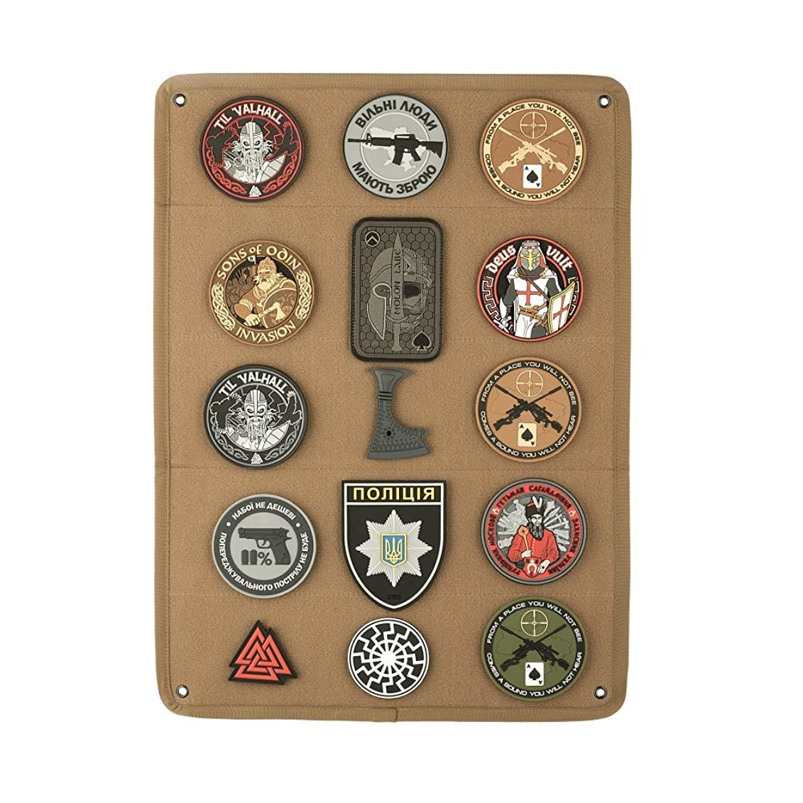 Morale Patches Display Board Tactical Patch Holder Hook & Loop Panel
