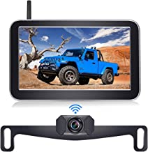 DoHonest Digital Wireless Backup Camera Kit with 7 Inch HD 1080P Monitor Stable Digital Signal Rear View Camera for Cars P...