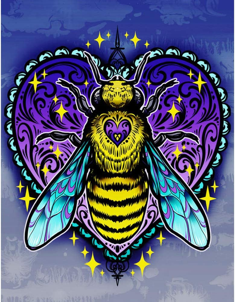 Diamond Painting Kits for Adults Kids and Beginner,Animal Diamond Painting,Home Wall Decoration Crafts. Ideal Gift for Family or Self Use (Bee)