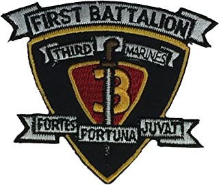 USMC FIRST BATTALION THIRD MARINE DIVISION UNIT Patch - COLOR - Veteran Owned Business.