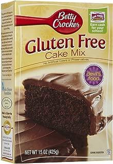 Betty Crocker, Gluten Free, Devils Food Cake Mix, 15oz Box (Pack of 4)