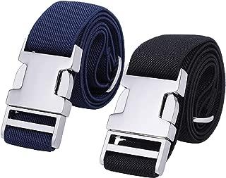 Boys Adjustable Stretch Belt for Kids - 2PCS Zinc Alloy...