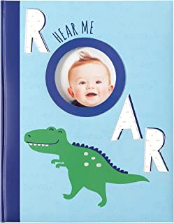 Carter's MB2-23283B Hear Me Roar Dinosaur Baby Memory Book, 9.5'' W x 11'' H