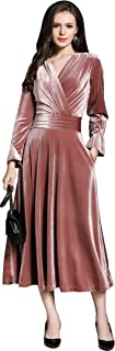 Best pink velvet dress long Reviews