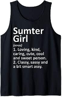 SUMTER GIRL SC SOUTH CAROLINA Funny City Home Roots Gift Tank Top