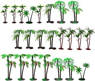 SOIMISS 72 st modell kokosnöt palmträd mini landskap modell träd miniatyr tåg järnvägar arkitektur träd hantverk för gör-d...