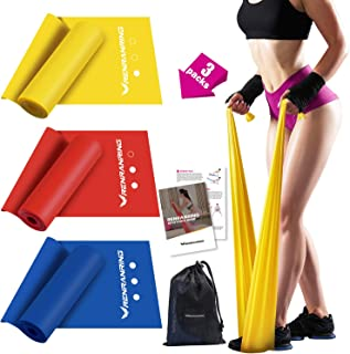 RENRANRING Resistance Bands,Exercise Bands for Physical Therapy,Yoga,Pilates, Rehab,Stretching and Home Workout,Workout Bands of Different Strengths,Non-Latex Elastic Stretch Bands