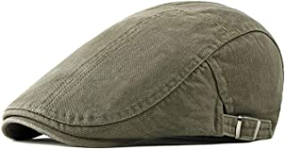 WAFA Mens Cotton Newsboy Hat British Painter Beret Flat Ivy Cabbie Driving Winter Hat Classic Casual