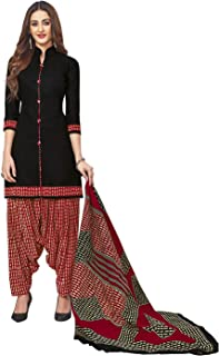Jevi Prints Women's Cotton Printed Readymade Stitched Salwar Suit Dupatta (SUIT_CP-242)