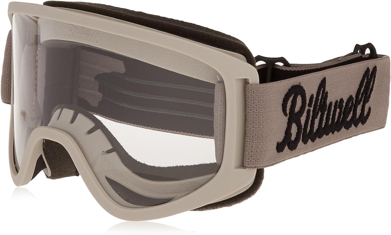 Biltwell Script Moto 2.0 Goggles (Titanium, One Size Fits Most)