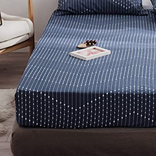 Easy Care Plain Fleece Fitted Sheet, Bedding Accessory, Soft & Cosy Bed Linen, Double Size Bedsheet,180x200+30cm