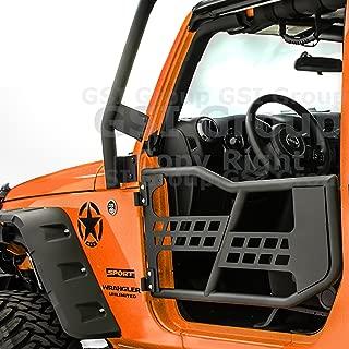 GSI Rock Crawler Off Road Tubular Door (2 door model) without Mirror Textured for 07-17 Jeep Wrangler JK