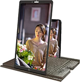 12 Inches 3D Phone Screen Magnifier With Bluetooth Speaker, HD Smartphone Phone Screen Amplifier Adjustable Horizontal And...
