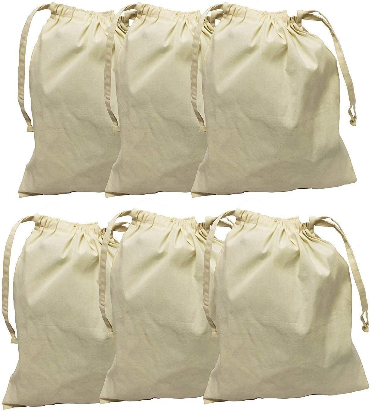 Earthwise Detroit Mall Cotton Muslin Produce Bags with Drawstring Ranking TOP2 Grocery for