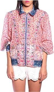 Anna Sui Womens Raspberry Multi Beaded Paisley Garden Border Jacket