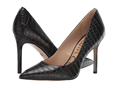 Sam Edelman Hazel (Black Kenya Croco Embossed Leather) Women