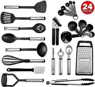 Juego de utensilios de cocina, 24 utensilios de cocina de