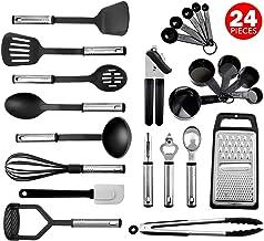 پخت و پز آشپزخانه مجموعه - 24 لوازم آشپزخانه فولاد ضد زنگ نایلون - لوازم آشپزخانه مقاوم در برابر گرما و مقاوم در برابر حرارت - آشپزخانه Gadget ابزار آشپزخانه جدید - بهترین برای گلدان و کابینت - تعطیلات بزرگ هدیه