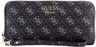 Luxury Fashion | Guess Womens SWSG7409460BROWN Black Wallet | Fall Winter 19