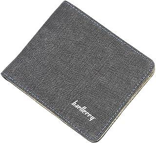 محفظة رجالي من الجينز مع سوستة داخلية محفظة للرجال محفظة كروت و نقود و عملات معدنية (أسود)