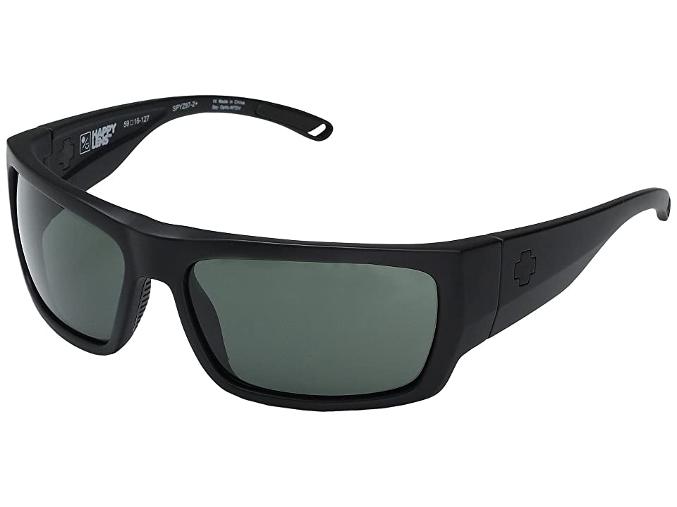 Spy Optic Rover (Matte Black Ansi RX/Happy Gray Green) Fashion Sunglasses