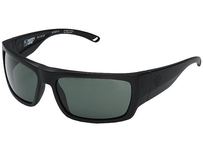 Spy Optic Rover (Matte Black Ansi RX/Happy Gray Green) Fashion Sunglasses