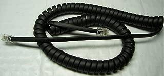 Black 9' Ft Handset Cord for Snom IP Phone 100 200 300 305 315 320 345 360 370 375 D315 D320 D345 D360 D370 D375 D710 D715 D720 D760 D821 D870 SIP VoIP Curly Coil by DIY-BizPhones