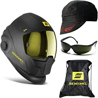 ESAB Sentinel A50 Automatic Welding Helmet, 5.0 Glasses, Revco Cap (BC5W-BK)